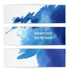 blue watercolor banner vector image vector image
