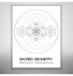 Bstract brochure template with sacred geometry vector