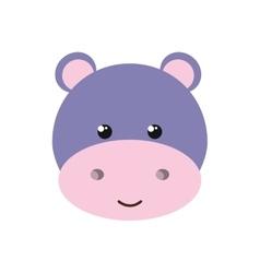 cute hippo isolated icon design vector image