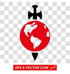Earth guard sword eps icon vector