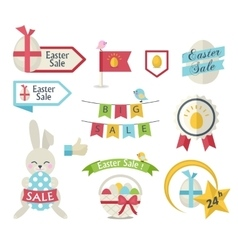 Easter Sale icon set vector image vector image