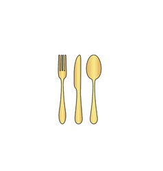 Fork spoon knife computer symbol vector
