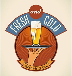 Fresh and cold vector image vector image