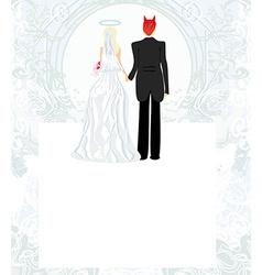 funny wedding invitation vector image vector image