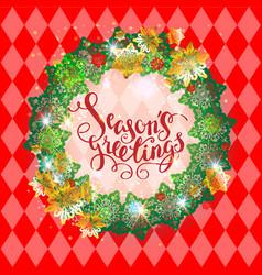 Holiday season red frame vector