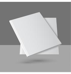 Hovering blank empty magazine vector