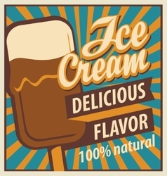 ice cream in retro style vector image