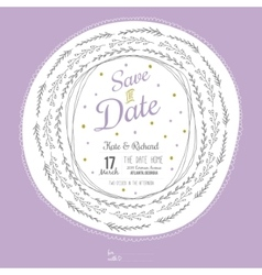 Inspirational romantic and love Save the Date vector image vector image