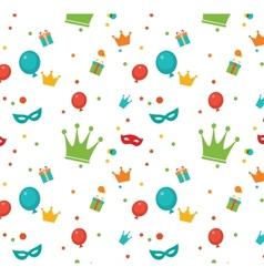 Jewish holiday purim pattern vector