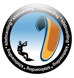 Kiteboarding icon vector