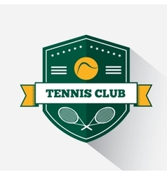 Logo design tennis vector image
