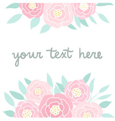 Pink peonies on white vector