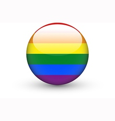 Round icon with rainbow flag vector image vector image
