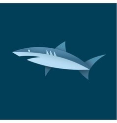 Shark in blue colors of a vector image vector image