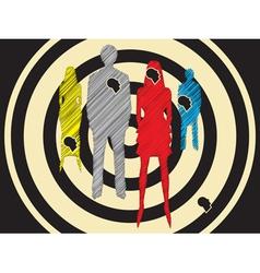 Social target group vector image
