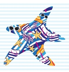 Starfish Summer card vector image vector image