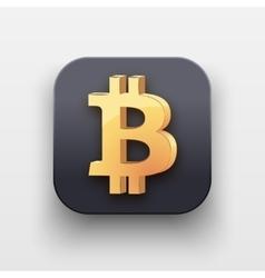 Symbol of Gold Bitcoin vector image vector image
