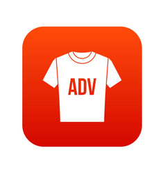 t-shirt with print adv icon digital red vector image vector image