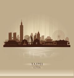 Taipei taiwan city skyline silhouette vector