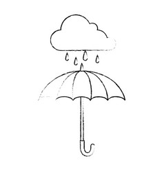umbrella protective storm cloud vector image