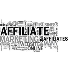 Why some affiliates don t make enough money text vector