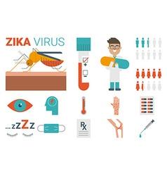 Zika virus concept vector