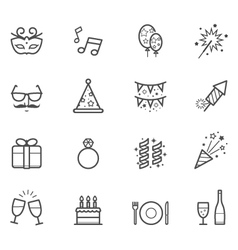 Celebration icons and party icons vector