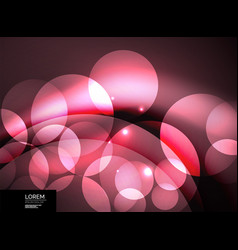 shiny glowing glass circles modern futuristic vector image