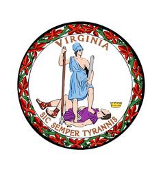 Virginia seal vector