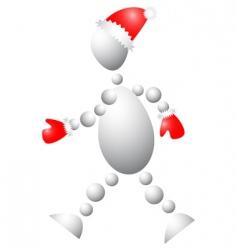 3D Santa Claus vector image vector image