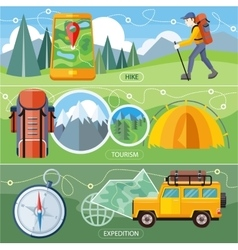 Hike expedition and tourism vector