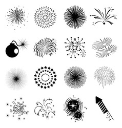 Fireworks icons set vector