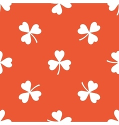 Orange clover pattern vector
