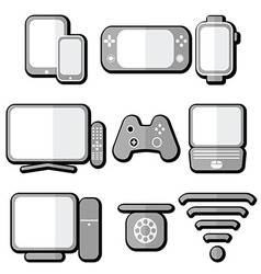 Technology icons 2 with shadow vector