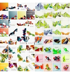 Mega set of various style geometrical templates vector