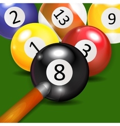 Ivories billiard balls background vector