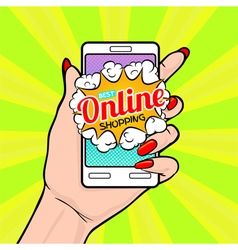 Best online shopping vector image vector image