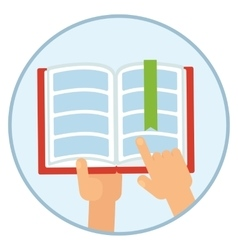 book in hands vector image vector image