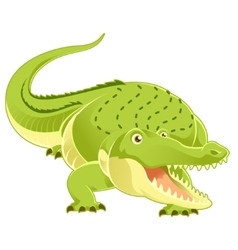 Cartoon happy Crocodile vector image vector image