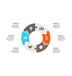 Circle puzzle infographic cycle diagram vector