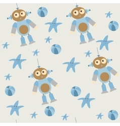 Cute seamless pattern of baby toys vector