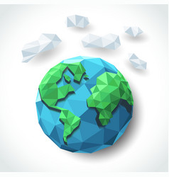 earth polygon vector image vector image