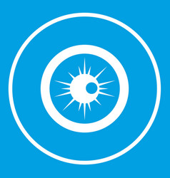 Eye icon white vector