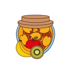 fruits jam design vector image