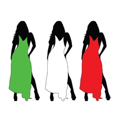 girl with color dress vector image