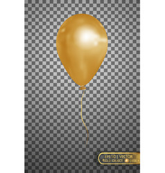 Gold air balloon eps10 vector