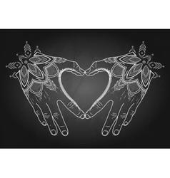Graphic mehndi heart vector