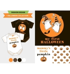 Halloween fashion set vector