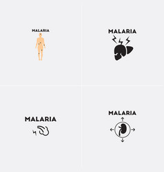 Icons collection various symptoms of vector