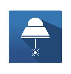 Industrial lamp icon vector